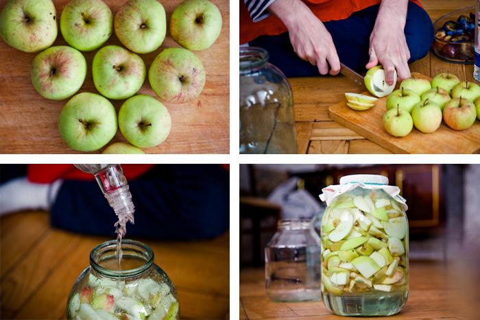 Как сделать наливку из яблок видео