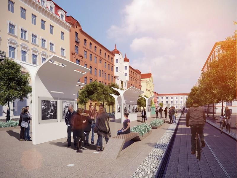 Проект благоустройства Малой Конюшенной улицы от «Архитектурной мастерской Литвинова»