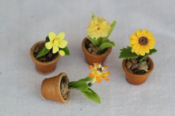 Мастер класс цветы в горшочках