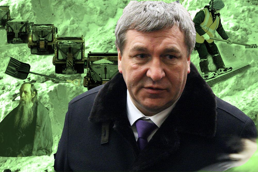 Труд, лопаты и терпение: как вице-губернатор Албин предложил петербуржцам убирать снег