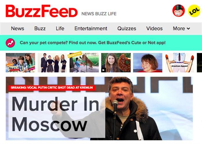 «Убийство в Москве», Buzzfeed, США