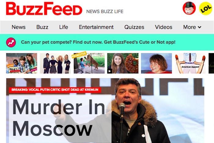 Как крупнейшие мировые СМИ осветили убийство Бориса Немцова на своих главных страницах
