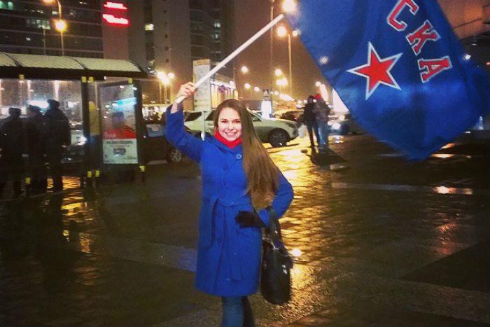 Как петербуржцы встречали хоккеистов СКА, выигравших Кубок Гагарина