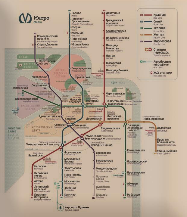 на новой карте метро