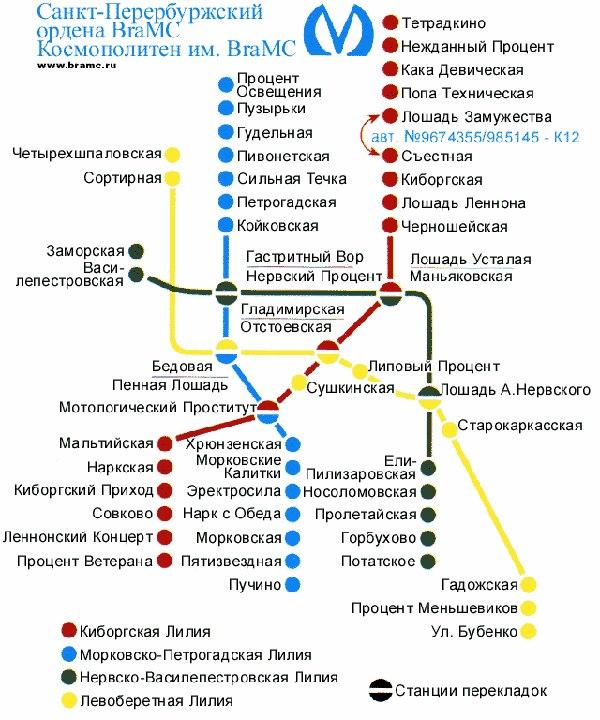 карт петербургского метро,