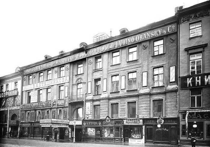 Здание банка на Невском, 12. Фотография  Карла Буллы, 1910 год