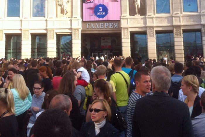 Торговые центры «Галерея» и «Рио» эвакуировали из-за звонка о бомбе