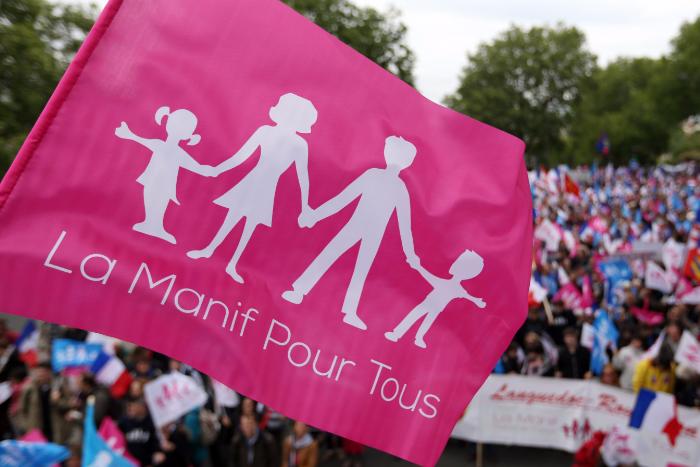 Французские активисты обвинили «Единую Россию» в краже «флага натуралов»