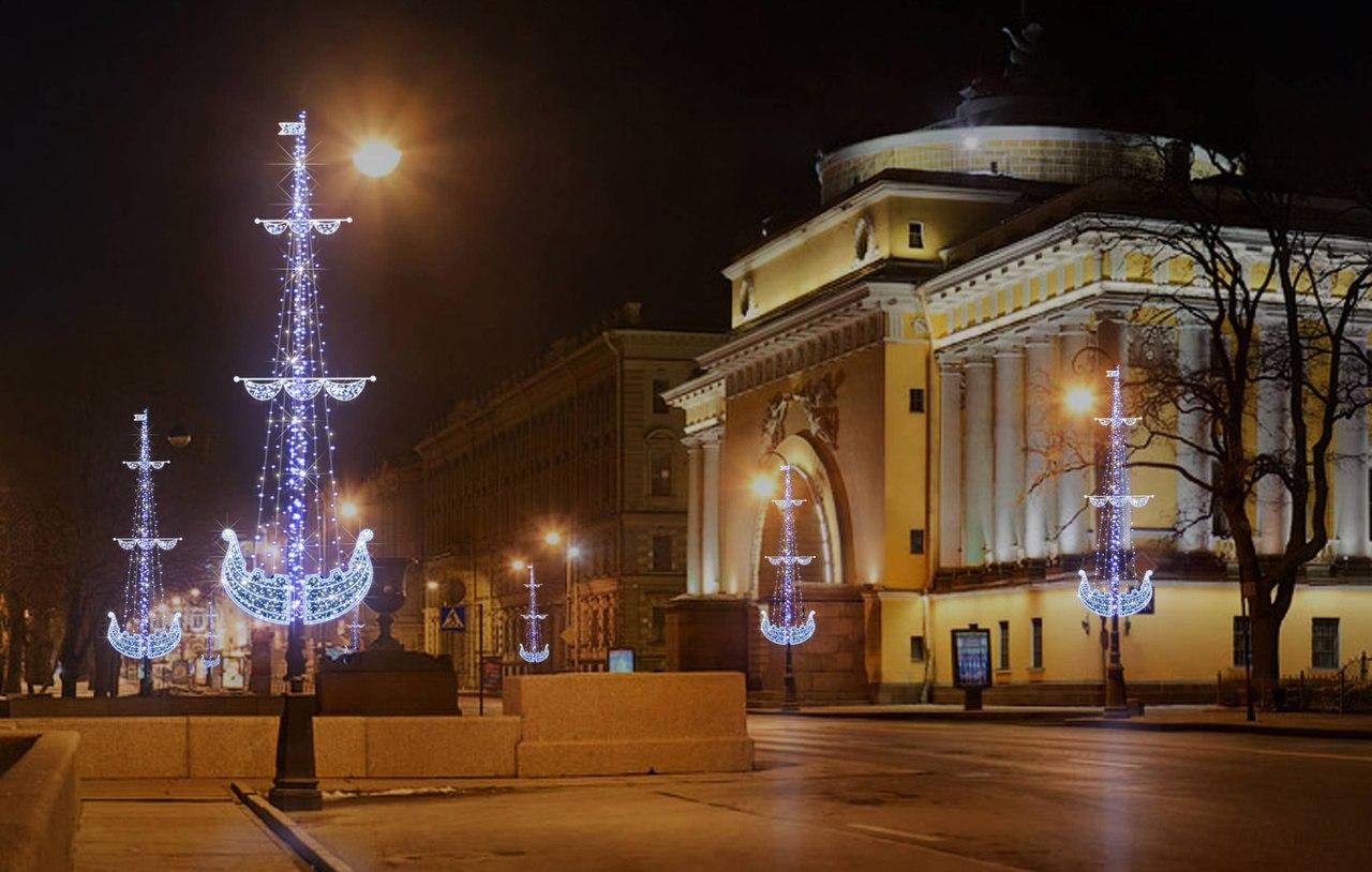 Центр петербурга на новый год