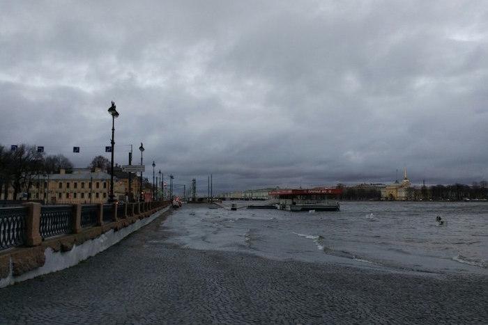 Как в Петербурге Нева вышла изберегов в фото из Instagram
