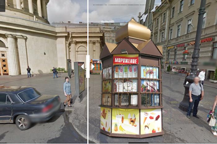 Как бы выглядел Петербург, если бы повсюду стояли ларьки: десять интерактивных коллажей
