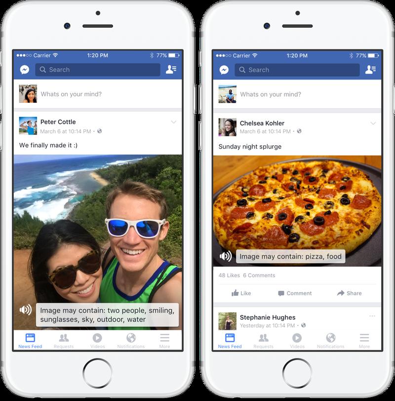 Facebook внедрил функцию звукового описания фото для незрячих людей
