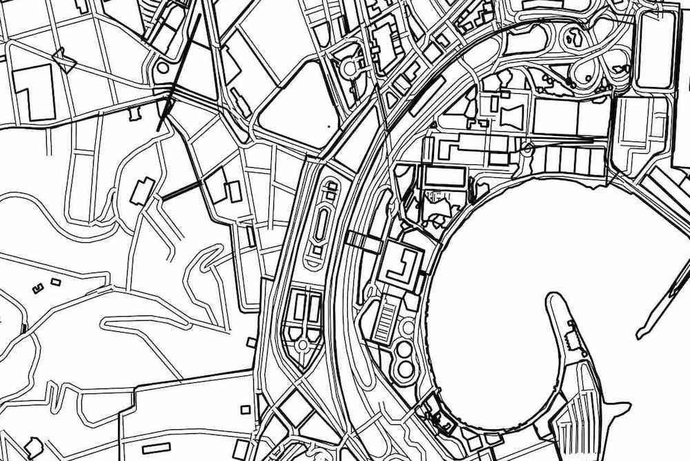 Тест: сможет ли человек определить город по бесцветной карте