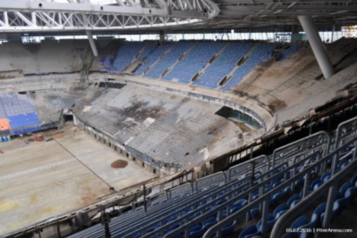 Строительство стадиона на Крестовском острове приостановлено