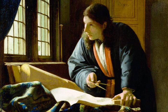 В Эрмитаже можно увидеть картину Яна Вермеера «Географ»
