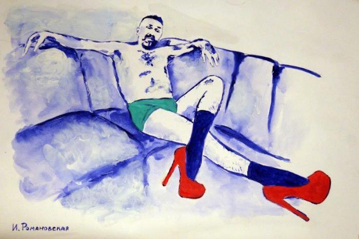 Портрет Шнурова в трусах и на лабутенах продадут на треш-аукционе за бутылку лимонной водки