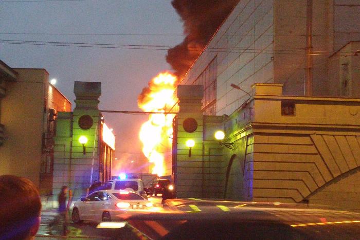 На территории Кировского завода вспыхнул пожар, UPD