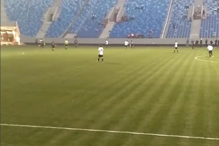 На стадионе «Крестовский» прошел первый футбольный матч