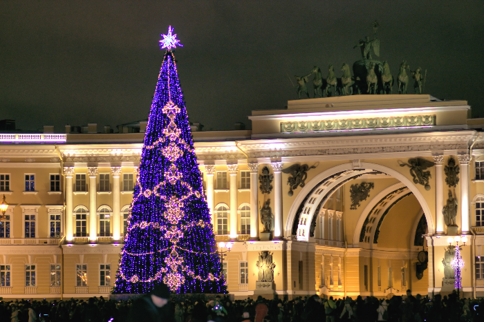 Власти отказались от покупки новой елки для Нового года на Дворцовой площади