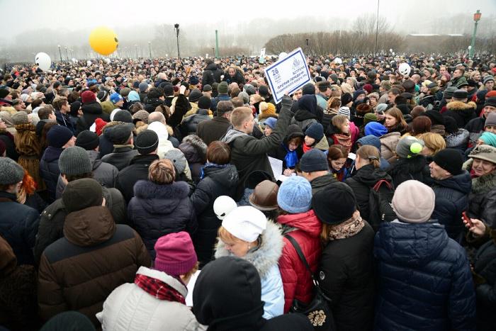 Акция против передачи Исаакиевского собора РПЦ — водной фотографии