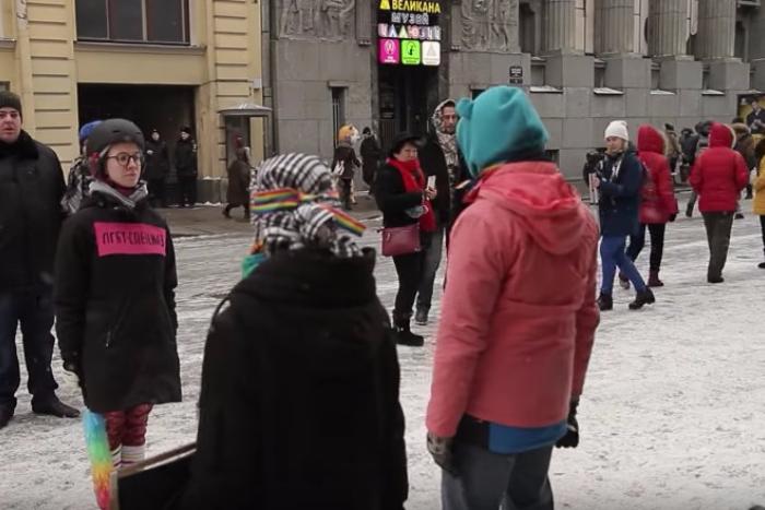 В Петербурге задержали участника акции «ЛГБТ-спецназ». На ней выполняли «бросок гомофоба» и «разгибание скреп»
