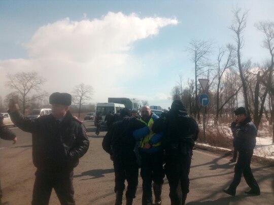 В северной столице задержаны восемь дальнобойщиков за«несанкционированный автопробег»