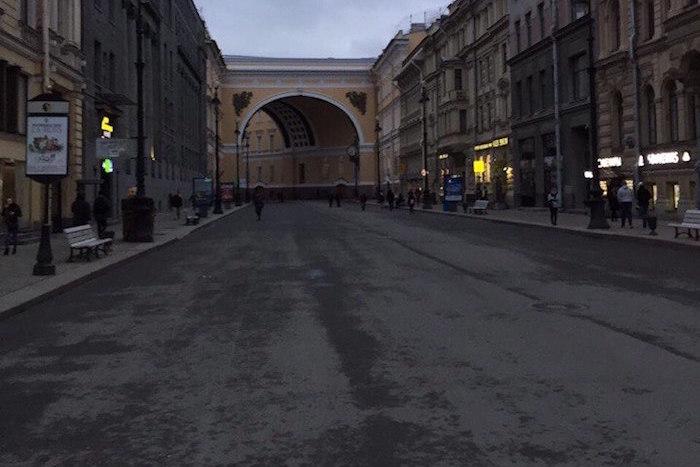 Безлюдный центр Петербурга: как город выглядел вечером после теракта в метро
