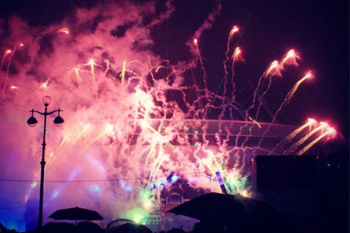 Как прошло световое шоу после первого матча на стадионе «Санкт-Петербург Арена»