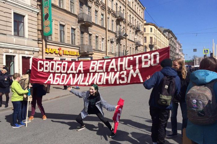 Лозунги и плакаты петербургского Первомая — в 15 кадрах