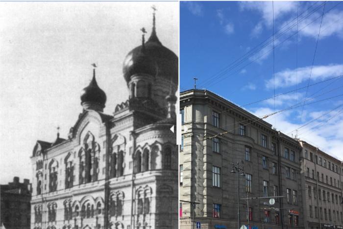 Как сейчас выглядят здания и районы Петербурга, где в XIX веке располагались церкви, кладбища и жилые дома