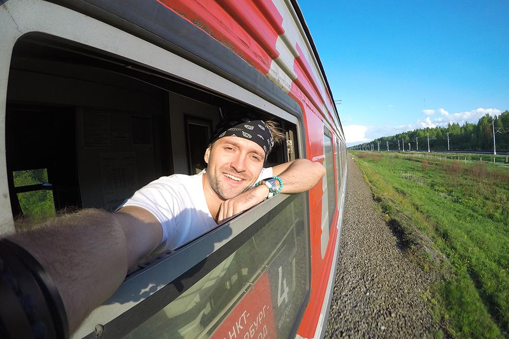 Две недели проездить на поездах между Петербургом и Москвой и узнать, как провезти с собой серф и чучело лося