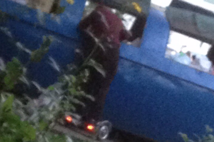 Это петербургский бездомный нагироскутере. Люди шутят, что он избудущего 🤖