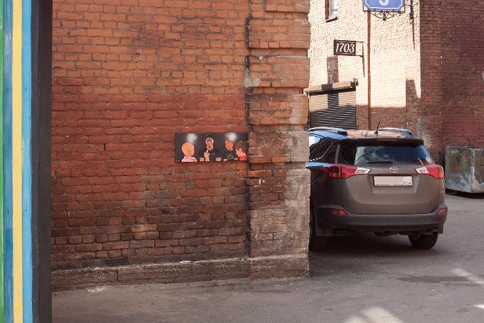 У бара «1703» на Лиговском появилась картина о баттле Оксимирона и Гнойного