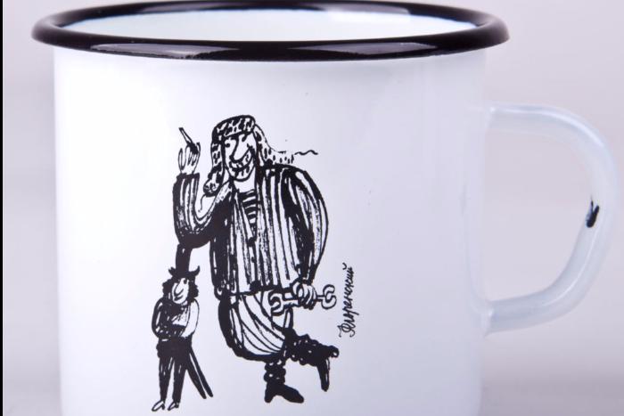 AdVita распродает футболки и кружки с иллюстрациями Флоренского к произведениям Довлатова