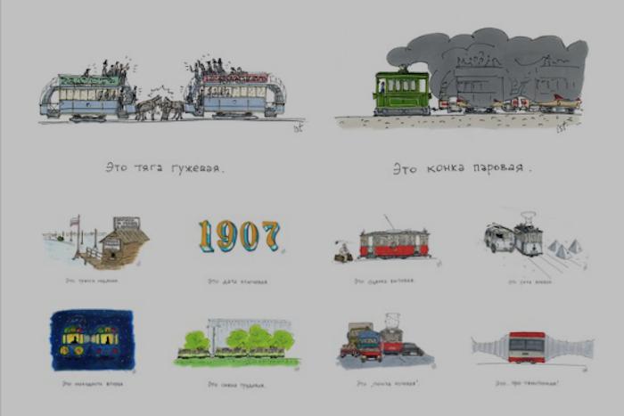 «Это конка паровая»: петербургский художник рассказал историю городского трамвая вдесяти картинках
