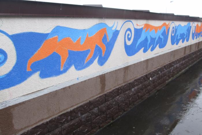 В Мурине нарисовали граффити «Ноев ковчег» для «улучшения психологического настроя жителей»