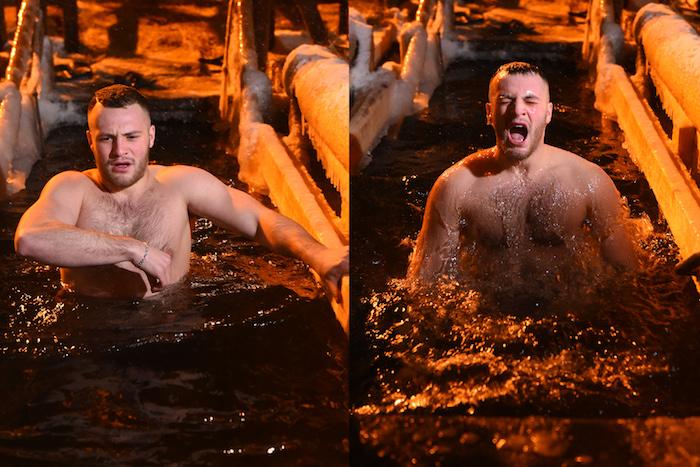 До и после проруби: 12 петербуржцев, которые секунду назад нырнули в ледяную воду
