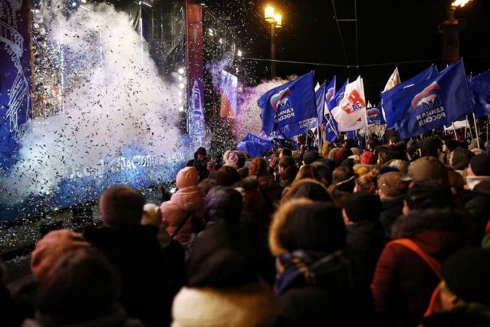 «Улыбайтесь, ведь Крым — наш». Как прошел концерт, посвященный присоединению Крыма и победе Путина на выборах