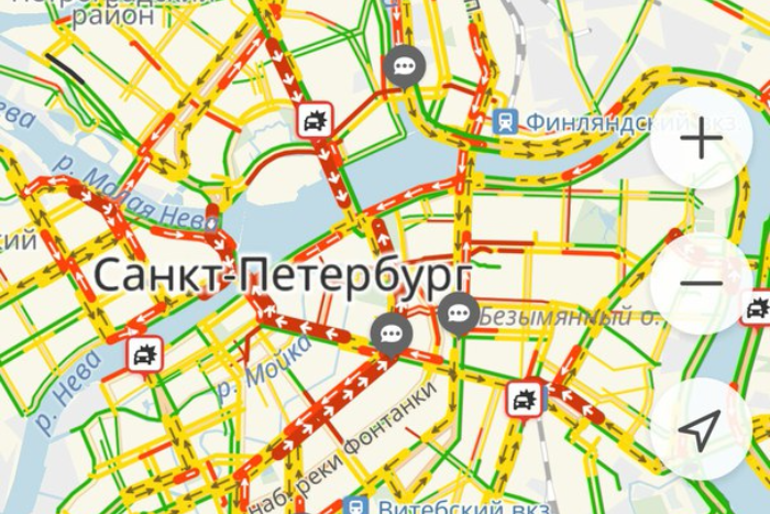 «Начальник разрешил не приезжать. Спасибо, Медведев»: петербуржцы стоят в пробках и обсуждают приезд премьер-министра