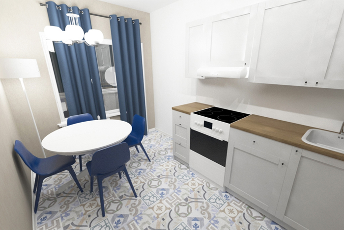 Марокканская плитка, деревянные полы и мебель из «Икеи»: как самостоятельно оформить квартиру на 500 тысяч или 1 млн рублей