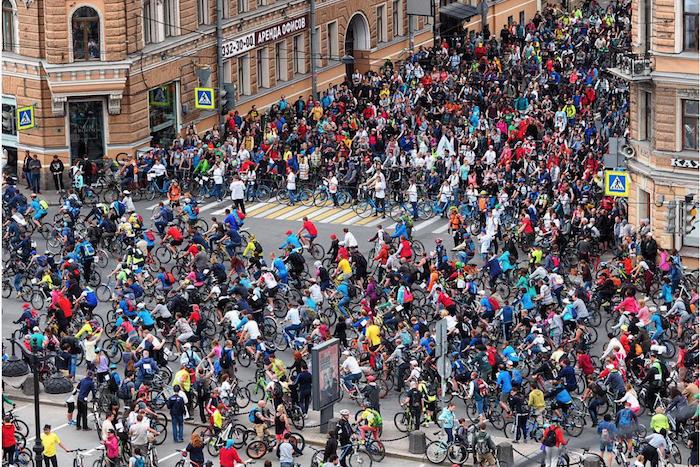 В День города в Петербурге пройдет Большой велопарад. Участники проедут от БКЗ до парка 300-летия