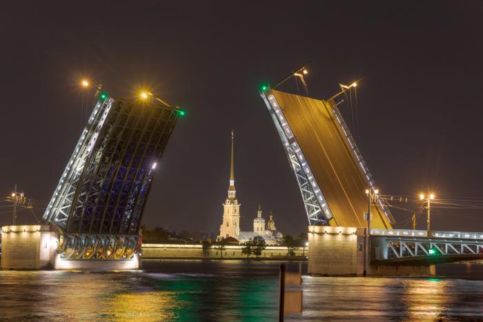 В Петербурге не будут разводить мосты в ночь на 13 июня