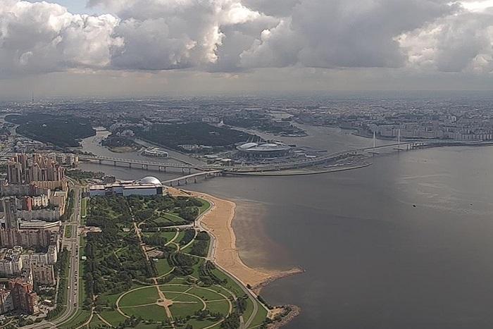 Как выглядит Петербург с высоты 360 метров? «Лахта-центр» запустил онлайн-трансляцию с будущей обзорной площадки