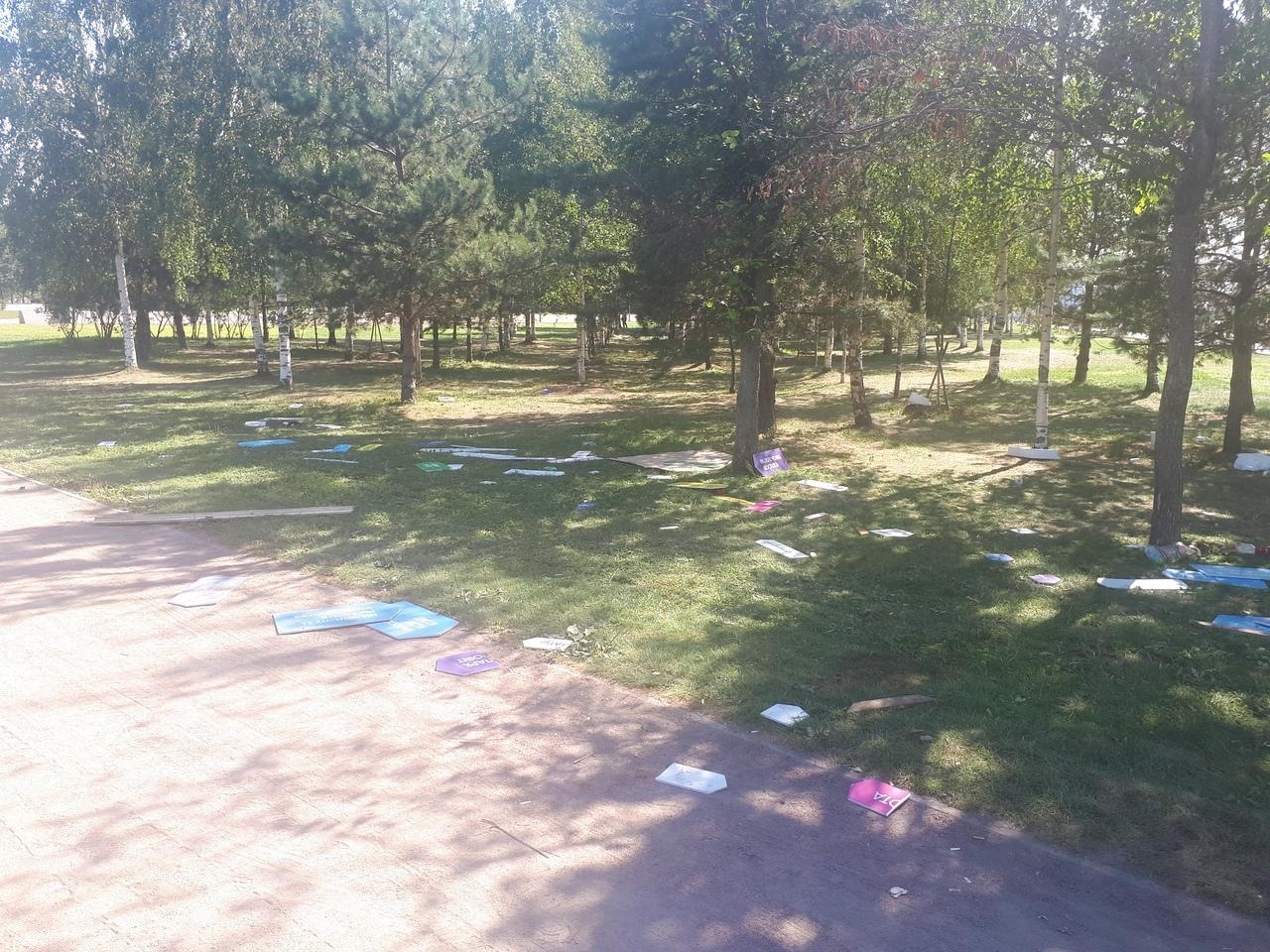 Местные жители пожаловались на мусор в парке 300-летия после VK Fest. Во «ВКонтакте» рассказали, что уберут парк до конца дня