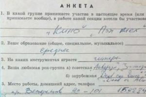 Анкету Цоя на вступление в рок-клуб признали подлинной и выставят на аукцион за 950 тысяч рублей. Критик называл документ подделкой
