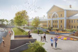 К 2022 году на набережной Карповки построят зону отдыха и сделают ее пешеходной. Как это будет выглядеть и почему не все довольны проектом