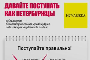 «Давайте поступать как петербуржцы». «Ночлежка» развесила по городу плакаты о взаимопомощи
