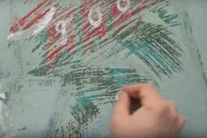 В Петербурге закрасили граффити художника Паши Каса с дверью в советский Новый год. Активисты пытаются убрать краску монетами и восстановить картину. Обновлено