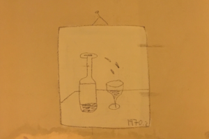 Художник рисует на стенах в Петербурге одинаковые картинки с бутылкой вина и бокалом. Стрит-арт заметили в Коломне и на Петроградской