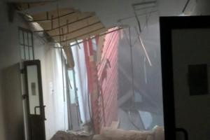 В корпусе ИТМО обрушились крыша и перекрытия на всех этажах. В здании находились более 80 человек — никто не пострадал. Что об этом известно